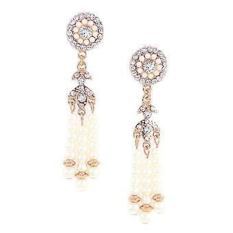 Deco Pearl Tassel Earrings