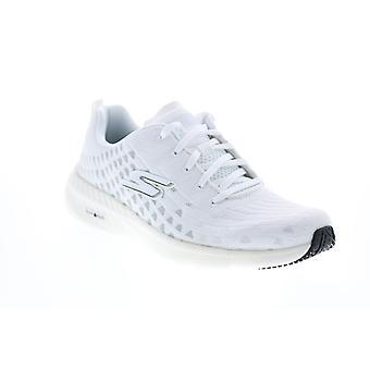 Skechers Go Run Hyper Burst Solar View Womens White Athletic Running Shoes