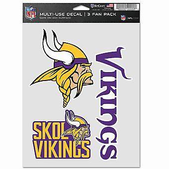 NFL Tarra Monikäyttöinen 3 Setti 20x15cm - Minnesota Vikings