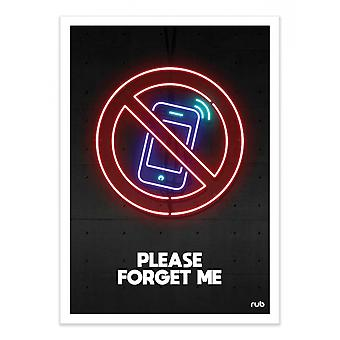 Art-Poster - Please forget me - Rubiant