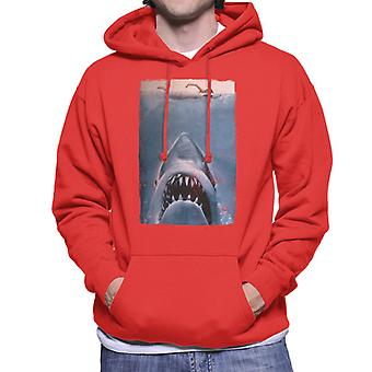 Jaws Classic Poster Stalking Prey Men's Hooded Sweatshirt