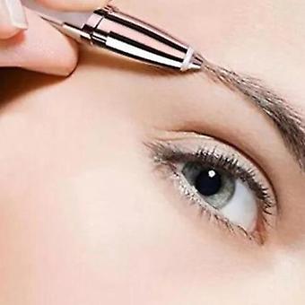 Kannettava ja kivuton kulmakarvan epilaattori - Partakoneen meikki Mini Parranajokone Kasvojen hiukset