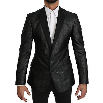 Dolce & Gabbana Musta Harmaa Slim Fit Takki MARTINI Bleiseri