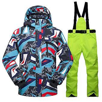 Hot Ski Suit, Winter/outdoor Windproof, Waterproof/thermal Male Snow Pants Sets