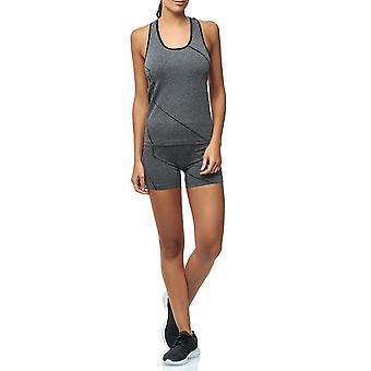 Damen Zweiteiler Sport Anzug Kombi Set High Waist Shorts Fitness Top Leggings