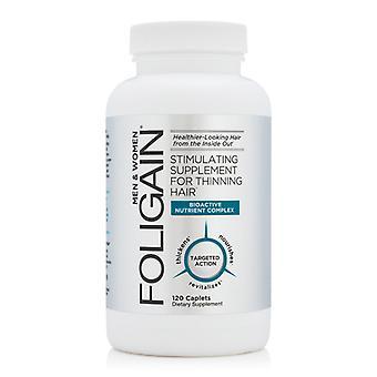 Foligain Stimulating Supplement for Thinning Hair - 120 Capsules - For Men & Women - Vegan Friendly