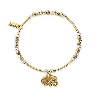 ChloBo Gold And Silver Decorated Elephant Bracelet GMBSBNH4024