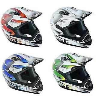 GSB XP-14B Motocross ATV Off-Road Helmet Graphic Orange ACU Gold