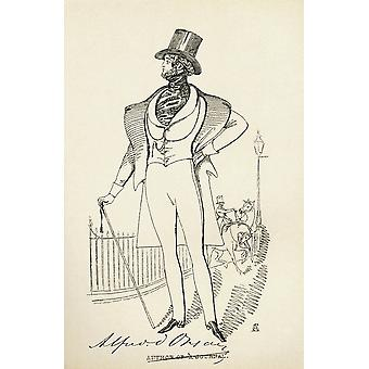 Alfred Guillaume Gabriel Comte Dorsay Aka Graf von Orsay 1801 PosterPrint
