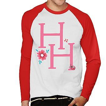 Holly Hobbie Initialen mit einer Blume Männer's Baseball langärmelige T-Shirt