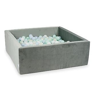 XXL Ball Pit Pool - Velvet Grey #12 + laukku (400-600 palloa)