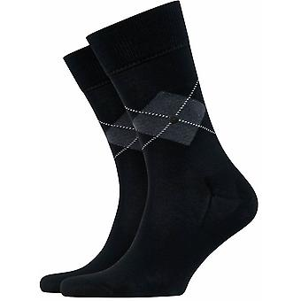 Burlington Argyle Socks - Black
