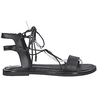 Black Low Heel Sandalen