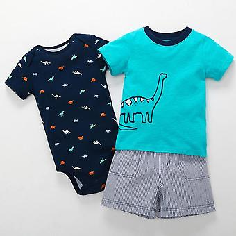 Summer Baby T Camicia,Short and Romper Set, Design 6