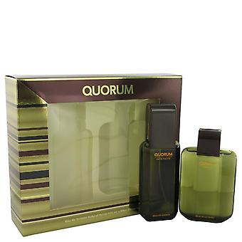 Ensemble-cadeau de quorum de Antonio Puig 3,3 oz Eau De Toilette vaporisateur + 3,3 oz After Shave