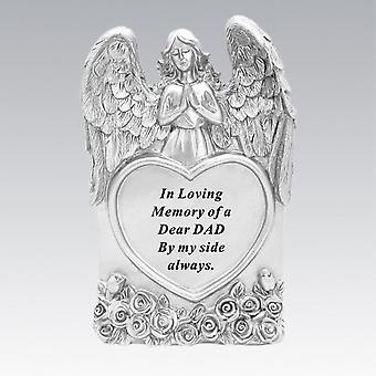 David Fischhoff Silver Praying Angel Heart Dad Memorial Standing Plaque