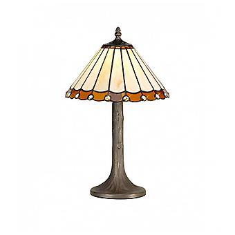 Lámpara De Mesa Tiffany Calais 1 Bombilla Ambar 26 Cm
