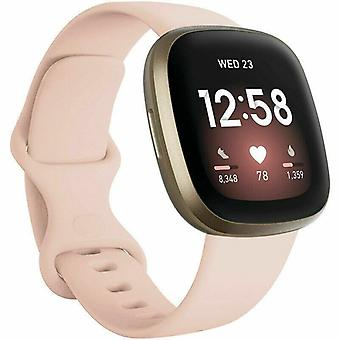 """for Fitbit Versa 3 / Sense Replacement Strap Silicone Band Bracelet Wrist[Large Fits Wrist 7.2"""" - 8.7"""",Light Pink]"""