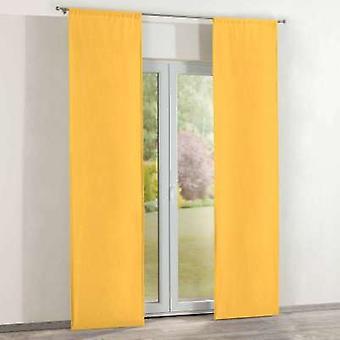 Oppervlakte gordijnen 2 st., geel, 60 × 260 cm, Loneta, 133-40