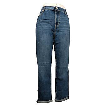 Chaps Women's Jeans 5 Pockets Cotton Straight Leg Blue