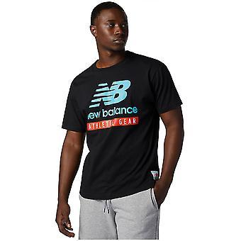 New Balance Essentials Logo Tee MT11517BK camiseta masculina universal