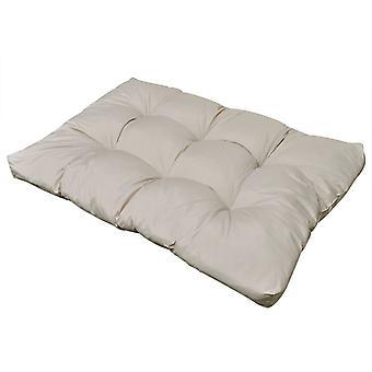 Cojín de asiento acolchado 120 x 80 x 10 cm arena blanca
