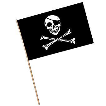 Bandera Pirata - Plástico (Paquete de 144)