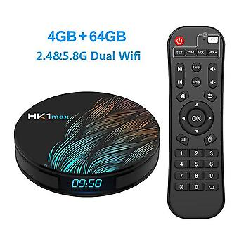 New 2021 mini smart tv box android 9.0 2.4g/5g wifi hk1 max rk3318 quad-core bt 4.0 set top box media player 4g 64g dropshipping