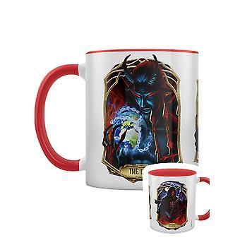 Deadly Tarot Obsidian Death The Devil And The Magician Mug