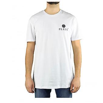 Philipp Plein Ss Iconisch Plein Wit Logo T-shirt