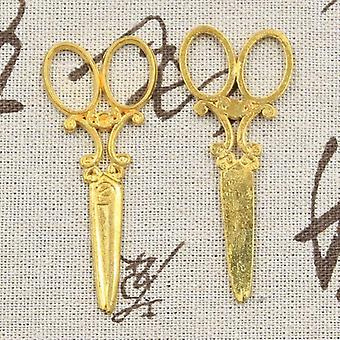 Charms Sewing Scissors 61x25mm Antique Making Pendant
