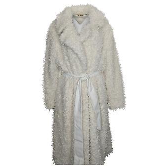 Alle waardige Hunter McGrady Women's Coat Plus Faux Fur Belt Wit A388944