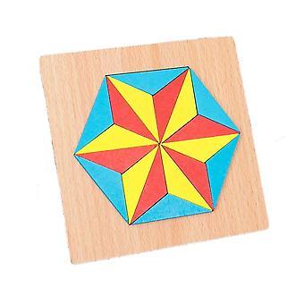 Sexkantiga stjärna variation pusselspel