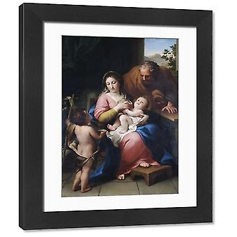Mengs - The Holy Family with the infant St John N070660. Framed Photo. APSLEY HOUSE, London..