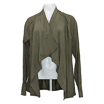 zuda Women's Sweater Reg Sleeveless Como Jersey Belted Green A377761