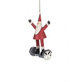Santa on a Hoverboard Christmas Decoration