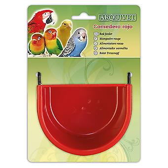 Arquivet 槽红色 11,5x8x8 厘米(鸟、进料器和饮水机,用于笼子)