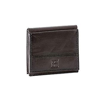 Men's leather wallet with outer coin purse and dudu dark brown credit card case