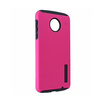 Incipio DualPro Case for Moto Z Force Droid - Pink/Gray