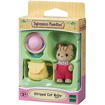 Sylvanian Familier 5417 Stripet Katt Baby
