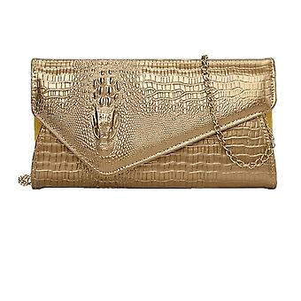 Pu New Crocodile Pattern Envelope Style Shoulder Bag For Women