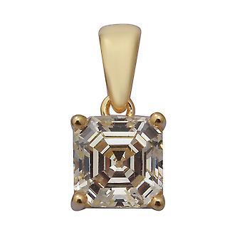 Elanza Schweizer Stern CZ Ohrstecker in vergoldeten Silber Geschenk für ihre 3,18 ct