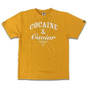 Crooks & Castles Cocaine and Caviar T-shirt Gold