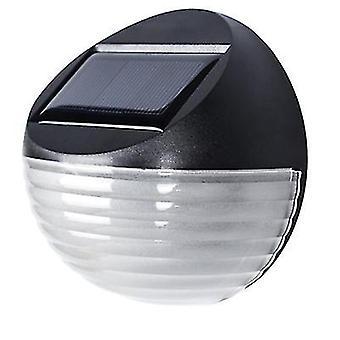 8Pcs warm light solar 2led wall light, garden waterproof fence light az9696