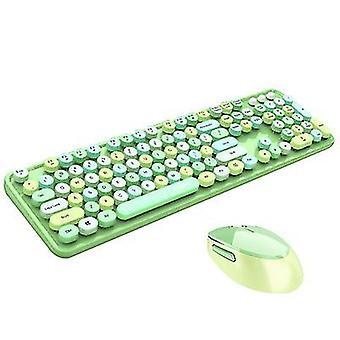 Grøn trådløst tastatur og mus combocute trådløst tastatur x7363