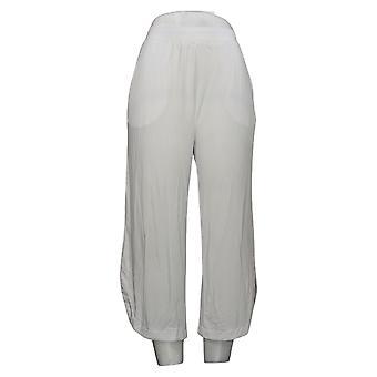 Antthony Women's Pants Wide-Leg Tulip-Hem Crop Pant White 747088