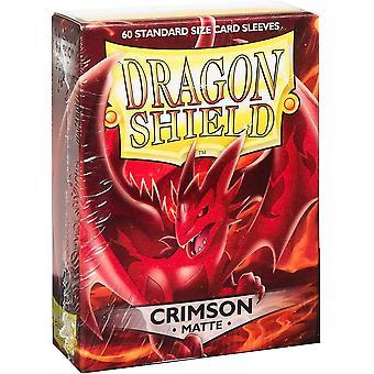 Dragon Shield Standard Matte Crimson Card Sleeves - 60 Sleeves