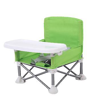 Reisverhoger stoel met dienblad voor baby, draagbare baby eettafel (groen)