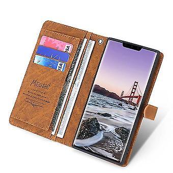 "Multi-slot Folio Leather Case voor Apple iPhone 11 Pro 5.8 ""- Bruin"
