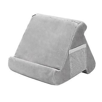 Tablet Soft Pillow Stand Til Ipads Multi-vinkel Lap Stand Mobiltelefon Holder (Grå)